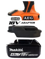 Makita 18v Battery to AEG Skin Adapter Trim Router Brad Nailer Belt Sander Multi