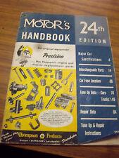 1947 MOTORS HANDBOOK~CAR~TRUCK~TUNE UP & REPAIR SPECS~INTERCHANGE PART~1935-1947