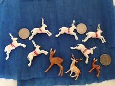 9 Little Christmas Putz Deer