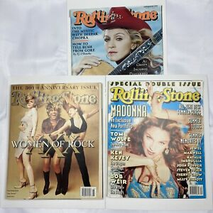 Rolling Stone Magazine Lot of 3 issues  Madonna  1997 1998 2000  NO Labels