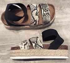 Womens Platform Sandals Espadrille Ankle Strap Comfy Summer Peep Toe Shoes Size