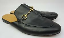 Gucci Princetown Black Leather Slippers Men's Shoes Size 13 G 14 US