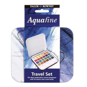 Daler Rowney Aquafine Watercolour 24 Colour Tin Set