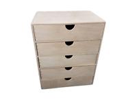 A4 Plain Wooden Cupboard Chest Shelf With Drawers Storage Desktop Unit D45
