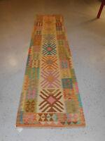 Handmade Kilim rug great quality 2'8''x9'8'' runner wool carpet