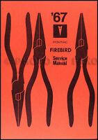 1967 Pontiac Firebird Shop Manual Supplement Repair Service