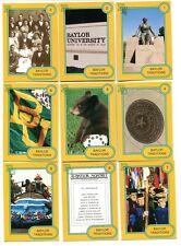 Baylor Bears Traditions Card Set (30) University History Presidents Waco Texas
