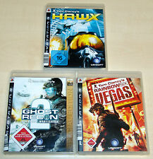 3 PLAYSTATION 3 giochi raccolta-Tom Clancy 's Vegas HAWX Ghost Recon 2 Advanced