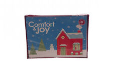 Comfort & Joy Happy Holidays Glitter Snow Snowman Modern NEW Christmas Cards