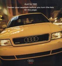 1997 Audi Line Sales Brochure Book A4 A6 A8 Cabriolet