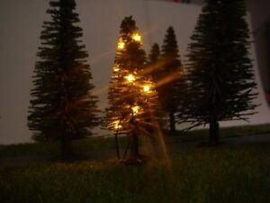 S327 N+ Tt Christmas Tree With LED Light Chain Yellow Illuminated 12 Leds Fir