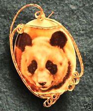 Sweet Panda Bear, Porc Cameo Pendant, 14kt. Gold-Filled
