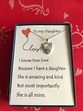 Bear Pendant necklace w/ love poem for your daughter.