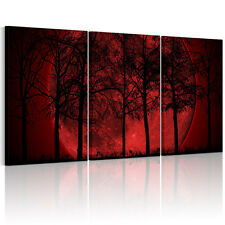 Unframed Canvas Prints Modern Home Decor Wall Art Picture-Moon Red Grove