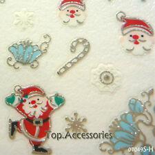 Christmas Santa Snowflakes Design 3D Nail Art Decals Stickers #07049S-H Free P&P