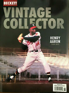 New April/May 2021 Beckett Vintage Collector Price Guide Magazine W/ Hank Aaron