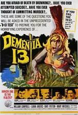 DEMENTIA 13 Movie POSTER 27x40 William Campbell Luana Anders Bart Patton Patrick