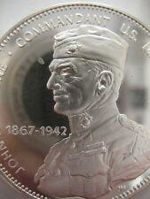 7/8-OZ  GEN. JOHN LEJEUNE FREEMASON BROTHERHOOD MASONIC COIN SILVER .925+GOLD