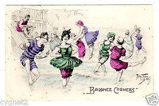 "POSTCARD THIELE BEACH BATHERS DANCE ""BALANCE CORNERS"""