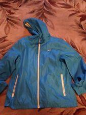 Womens teal blue 'Avia' mesh lined full zip wind breaker jacket size L euc