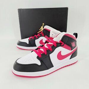 Nike Air Jordan 1 Mid PS Very Berry White 640734-016 Shoes Size 3Y Wmns 4.5 NIB
