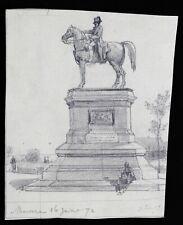Camille ISBERT (1825-1911) Montereau Seine marne 2 dessins H. Scheffer Napoléon