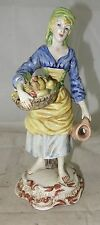 feine Keramikfigur Frau  mit Obstkorb Italien