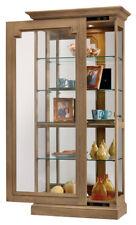 Howard Miller 680-607 Caden - Aged Natural Finish Curio Cabinet 680607