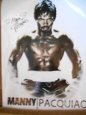 MANNY PACQUIAO personally signed 24x18 - STUNNING !!!