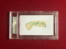 "Jack Dempsey, ""Autograph"" (PSA / DNA) Encapsulated Cut (Scarce)"