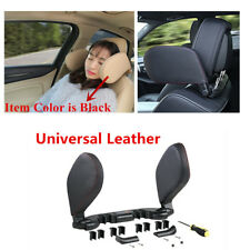 New Car Seat Headrest Pad Leather + PVC Pillow Head Neck Rest Support Cushion
