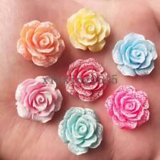 New 10pcs 20mm Resin 3D crack flower Flatback stone Wedding  buttons diy crafts