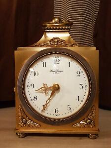 Pendulette officier bronze dore Hour Lavigne Paris
