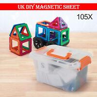 105PCS Magnetic Building Blocks Kids' Educational Set DIY 3D Multicolour Toys