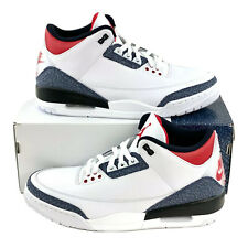 Nike Air Jordan 3 Retro SE Denim Fire Red Men's Size 12 Sneakers Shoe CZ6431 100