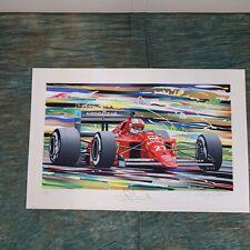 Nigel Mansel Ferrari Formula 1 Signed Serigraph Randy Owens, 30/135, 1989,