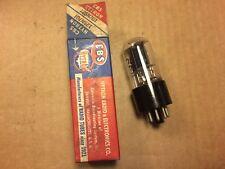 NOS NIB CBS Hytron 12SN7GT Black Plate Tall Boy Tube 1953 USA Tested Good