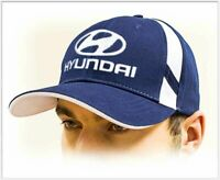 HYUNDAI unisex Baseball Cap Hat. 100% cotton. Dark blue color. Adjustable size