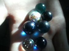 7 very rare marbles you will not find like these again,  blue gemstone like