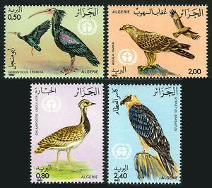 Algérie 701-704, MNH Protégé Oiseaux, 1982