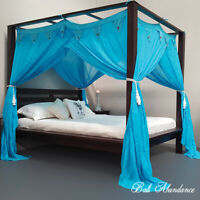 CANOPY STANDARD Coconut Button - Mosquito Net for Four Poster Bed COLOURED