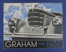 1938 GRAHAM Supercharger Sedan & Coupe Automobile Sales Brochure - EXCELLENT