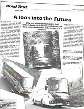 BOVA FUTURA FHD BUS COACH 'COMMERCIAL MOTOR' ROAD TEST 'BROCHURE'AUGUST 1984