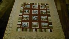 Vintage Handmade Colorful Nursery Patch Quilt