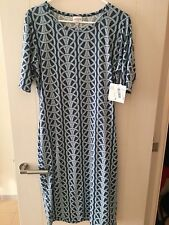 LuLaRoe Julia dress Large Nautical Rope Knot HTF unicorn