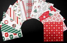 *TRADITIONAL CHRISTMAS* x 12 -  Quality Christmas papers  - 15cm x 15cm  (6 X 6)