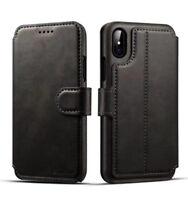 Cuir véritable Etui Housse Coque portefeuille pour iPhoneX 8 7 6S Plus S8+