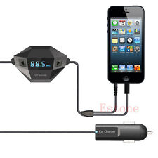 3.5mm Car USB Charger FM Transmitter For iPhone 5 5S 6 6Plus smartphone
