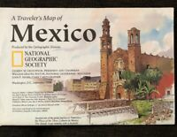 National Geographic Magazine September 1994 A Traveler's Map Of Mexico