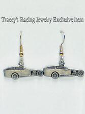 IMCA modified dirt track racing charm earrings auto Tracey's racing jewelry